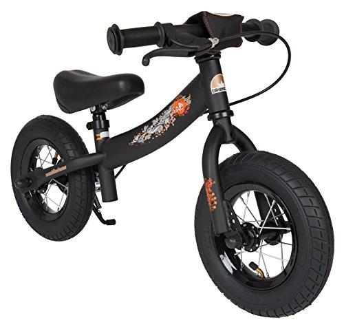 BIKESTAR – Bicicleta de Equilibrio para niños de 2 años con neumáticos de Aire y Frenos, 10 Pulgadas, edición Deportiva, Color Negro