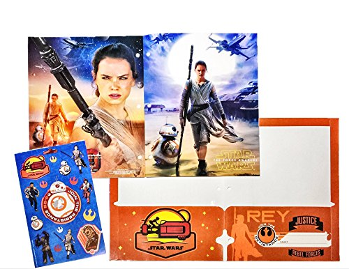 [Disney Star Wars: The Force Awakens Bundle [BB-8 The Resistance Journal 60 sheet, Rey Star Fighter File Folder, 2 Pack pencils & Tote bag PAIR (Millennium Falcon & Droids)] Stationary] (Star Wars The Force Unleashed 2 Darth Vader Costume Cheat Xbox)