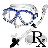 285890-Rx Lens-Dry Snorkel Prescription Snorkeling Mask Snorkel Set