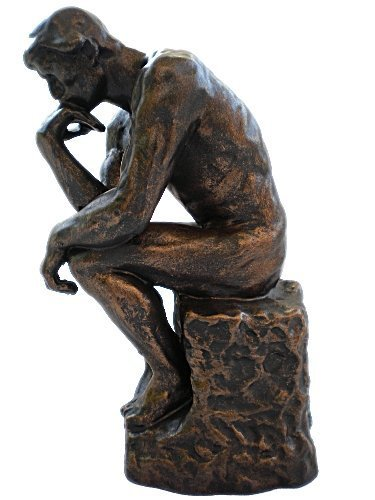 Thinker >> The Thinker Classic Rodin Bronze Art Sculpture After Auguste Rodin