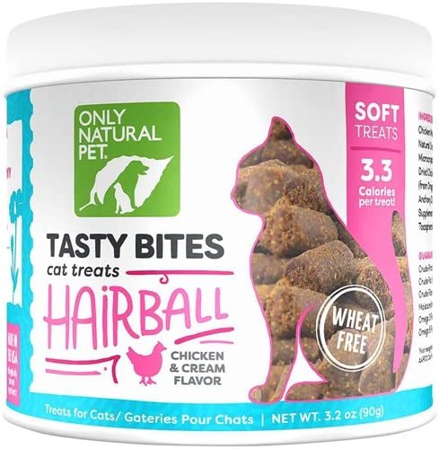 Only Natural Pet Tasty Bites Wheat Free Hairball Cat Treats