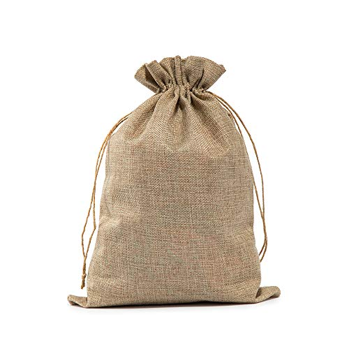 Burlap Bags with Drawstring 10x14 Inch, Gift Storage Bags for Wedding, Graduation, Party or Household Use