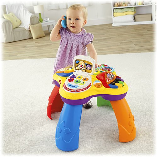 Fisher Price Laugh & Learn Puppy & Friends Learning Table and Smart Stages Sis