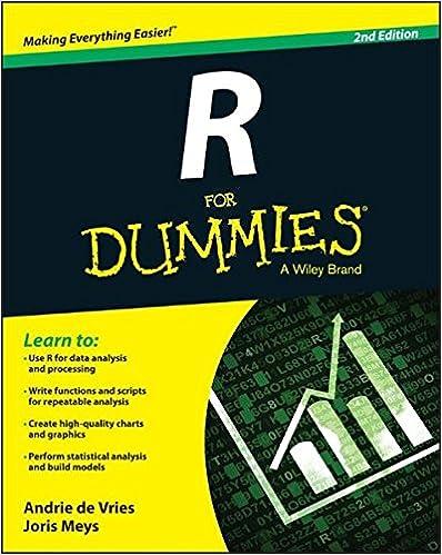 R For Dummies ISBN-13 9781119055808