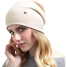 Beanie Hats For Women - Knit Cashmere Hat Caps Winter Fashion Bling Beanies