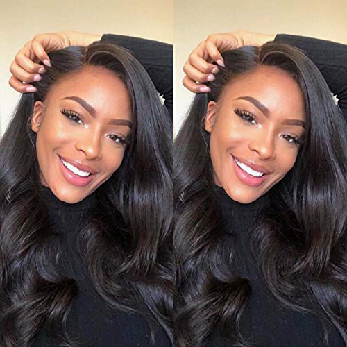 2019 Weave Brazilian Hair (12 14 16) Body Wave Bundles with Lace Clsoure 10 Inch 4x4 Three Part 100% Unprocessed Brazilian Virgin Human Hair Weave Extensions Natural Color