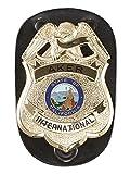 Aker Leather 590 Clip-On Federal Badge Holder, Black