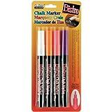 Uchida, 482-4H, 4 Piece, Bistro Fine Line Chalk Marker Set, Fluorescent Colors