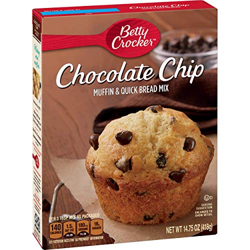 Betty Crocker Muffin and Quick Bread Mix, Chocolate Chip, 14.75 oz