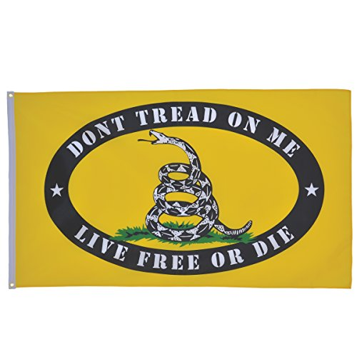 Flag Free Ship - In the Breeze Live Free or Die Grommet Flag, 3 by 5-Feet