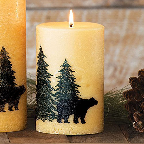 Black Bear Balsam Pine Rustic Candle - Medium - Cabin (Silk Screened Silhouette)