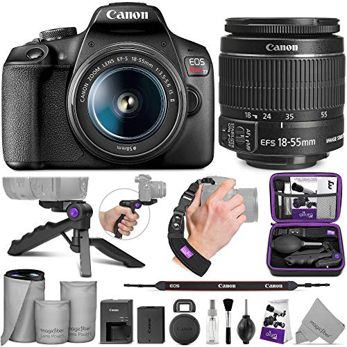 Canon EOS Rebel T7 DSLR Camera with Canon EF-S 18-55mm is II Lens with Altura Photo Essential Accessory and Travel…