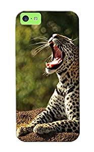 Case For Iphone 5c Tpu Phone Case Cover(leopard Nature ) For Thanksgiving Day's Gift