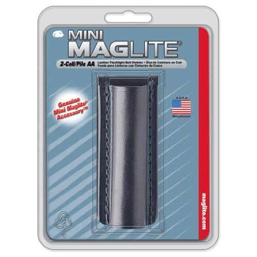 Maglite 108-000-414 - Étui cuir lisse pour lampe Mini R6 mixte adulte Noir