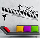 Music Wall Stickers Muse Piano Musical Instrument Vinyl Decal (ig2383)