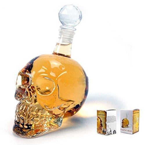 Burns Half Mask - Skull Face - Head Vodka Skull Face Bone Glass Bottle 350ml - Neoprene Gas Iphone Decal Mask Case Others 6s Watch Guard