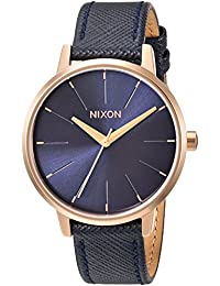 Nixon Women's The Kensington Leather X Lux Life Collection Navy/Rose Gold