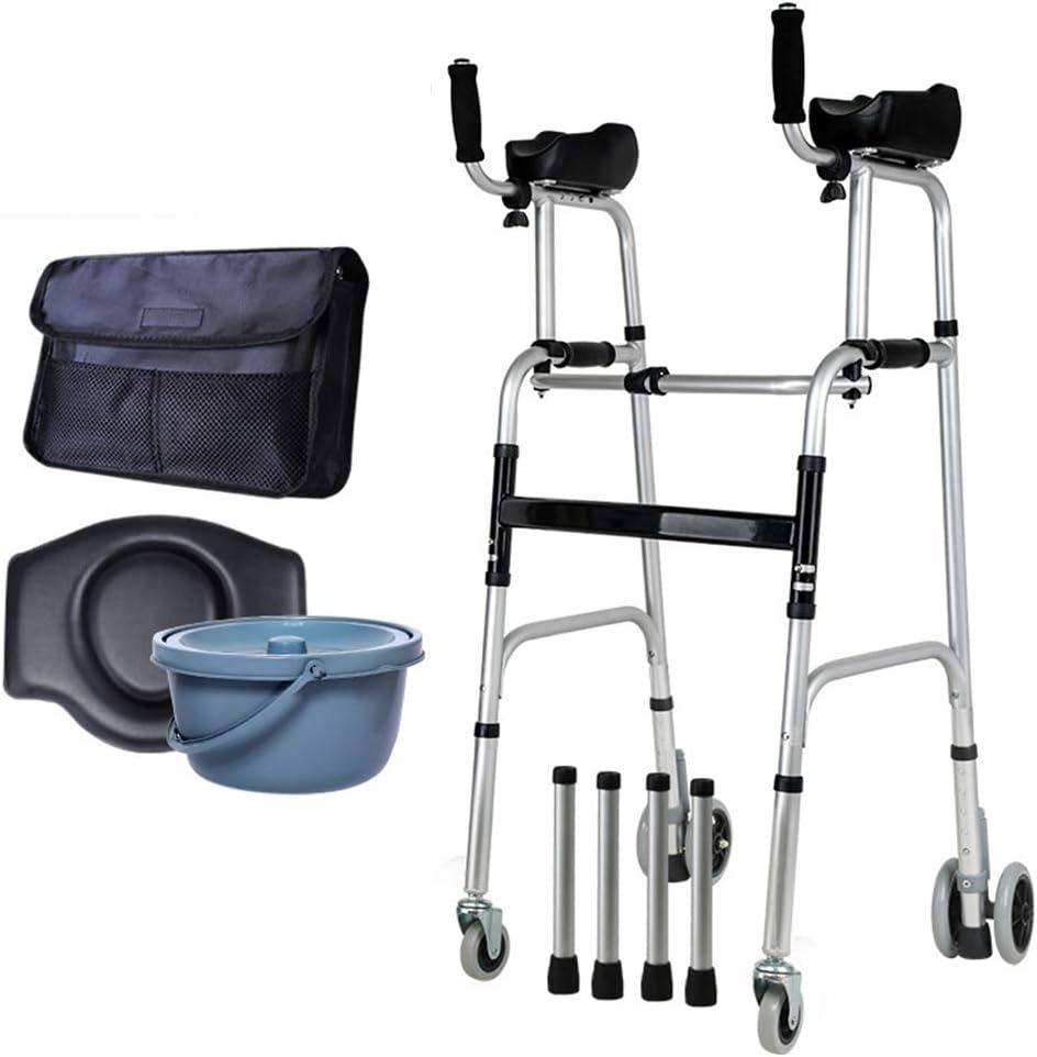 Andador Multifuncional, Ayuda para Caminar Ajustable, Inodoro Junto a La Cama, Asiento para Discapacitados, Andador para Embarazadas, Ducha De Mano para Discapacitados