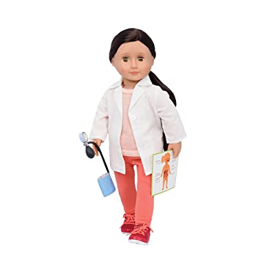 Our Generation by Battat- Nicola 18-inch Deluxe Posable Doctor, Fashion Doll- for Ages 3 Years & Up: Toys & Games