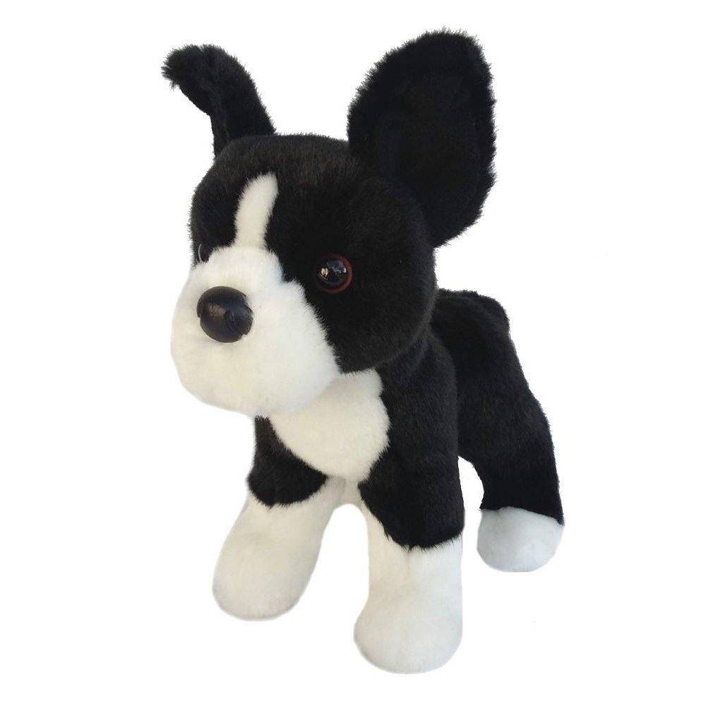 Amazon Com 10 Plush Black White Dog Stuffed Animal Toys Games