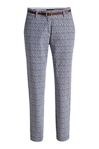 ESPRIT printed cotton-Pantalones Mujer blanco