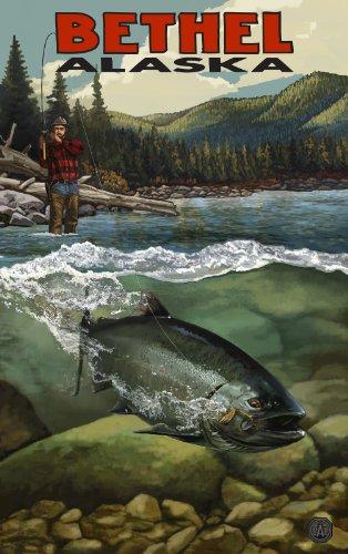 Northwest Art Mall Bethel Alaska Salmon Run Artwork by Paul A. Lanquist, 11 by - Bethel Mall Park