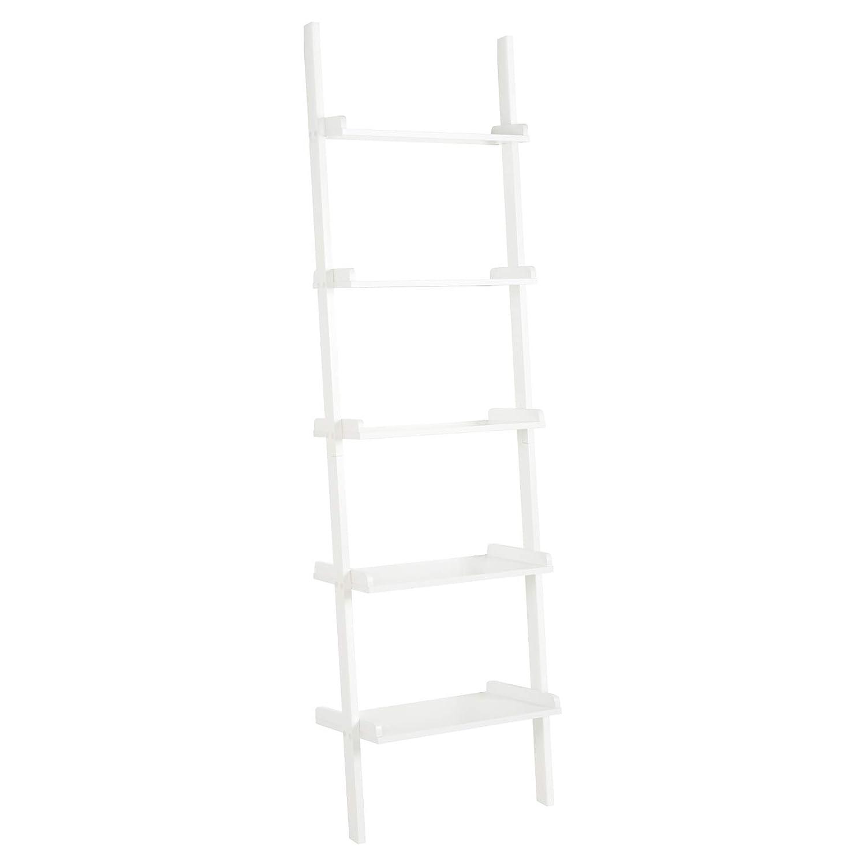 Hartleys White 5 Tier Ladder Shelf