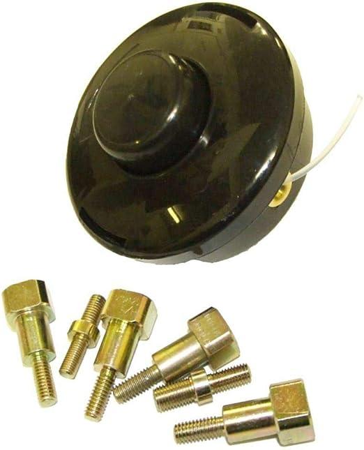 BMS Cabezal Universal de alimentación de 2 líneas y Pernos adaptadores para desbrozadora y Cortador de brochas: Amazon.es: Jardín