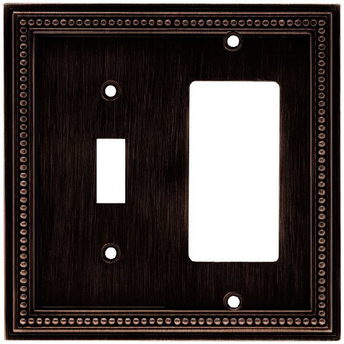 Brainerd 64407 Beaded Single Switch/Decorator Wall Plate / Switch Plate / Cover, (Brainerd Beaded Single)