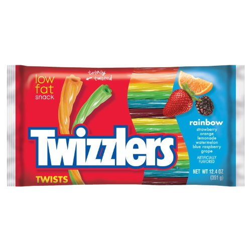 TWIZZLERS Licorice Candy, Rainbow, 12.4 Ounce (Pack of 6) -