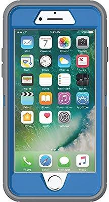the best attitude ba358 61aec OtterBox DEFENDER SERIES Case for iPhone 7 (ONLY) - Retail Packaging -  MARATHONER (COWABUNGA BLUE/GUNMETAL GREY)