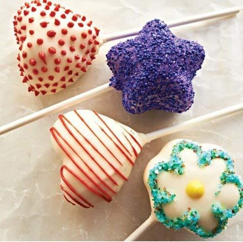 color morado Ianify Cake Pops Maker 3 en 1 Juego de moldes para tartas dise/ño de estrellas