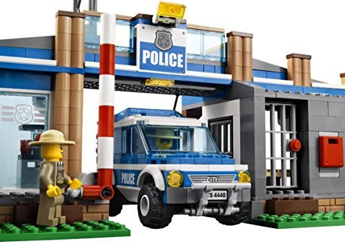 Lego Police Station City Rescue Car Edible Cake Topper Frosting 1/4 Sheet Birthday (Party City Cake Decorations)