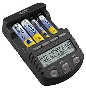 La Crosse Technology BC1000 Indoor battery charger Negro - Cargador (100-240, 50/60, 129,5 mm, 76,2 mm, 38,1 mm, Negro)