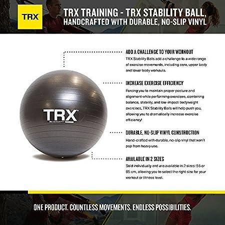 TRX Entrenamiento Balón de Estabilidad Hecho a Mano con Vinilo Anti Deslizante y Resistente
