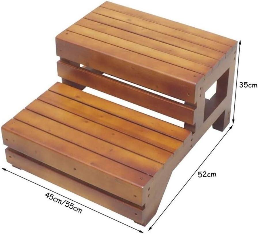 Size : 45/×52/×35cm 2 Stufen Klappstuhl Holztreppe for Badezimmer Haushalt Klettern Wtbew-u Trittleiter Leiter