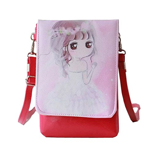 Price comparison product image Canvas Shoulder Bag Cross Body Bags Small Cell Phone Holder Case Wallet Purse Cash Key Coin Pouches Clutch Handbag for Girls Kids Ladies