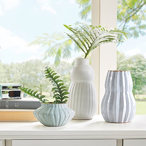 Glaze Cotta Terra Brown (Terra Cotta Modern Vase, Set Of 3 Light Green/Blue White Vases For Decor, Jarrones DecorativosÊ)