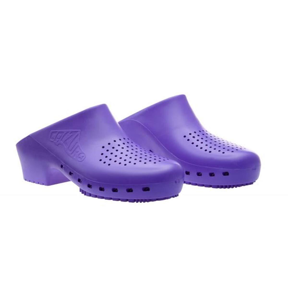 Cascos sanitarios calzuro S Classic con orificios profesionales CE 39-40 Arancio