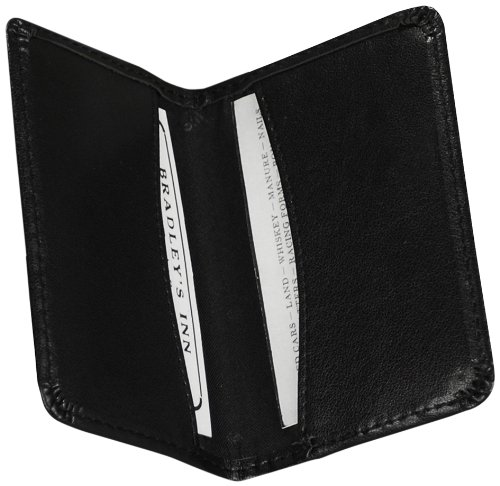 Samsill Regal Leather Business Card Holder, Case Holds 25 Business, Black