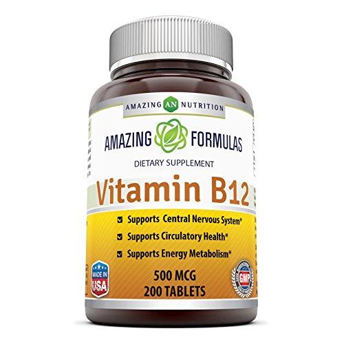 UPC 810180025621, Amazing Formulas Vitamin B12 500 Mcg 200 Tablets