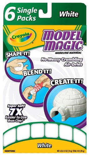 Crayola Model Magic Single Packs White (6 Single (Crayola Foam)