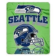 Officially Licensed Seattle Seahawks Gridiron Series Fleece Throw Blanket