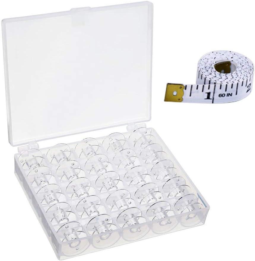 Gobesty Bobinas para máquina de coser, 25 piezas de bobinas de ...