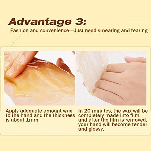 XY Fancy Hands Care ParaffinMilk & Honey Moisturizing Peel Off Hand Wax MaskExfoliate Hydrating Exfoliating Nourish Whitening Hand Mask Skin Care 150g by XY Fancy (Image #5)