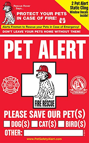 Amazoncom PET SAFETY ALERT Pack Static Cling Window Decals For - Window alert decals amazon