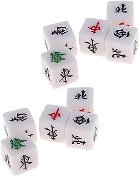 IPOTCH Paquete De 10 Juegos De Dados Mahjong para Juego De Mesa De Jabalí Familiar: Amazon.es: Juguetes y juegos