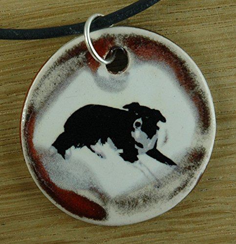 - Orginal handicraft: Border Collie; dog, dog owner, animal, pet, jewellery, jewelry, handcrafted necklace, best gift, art, ceramic