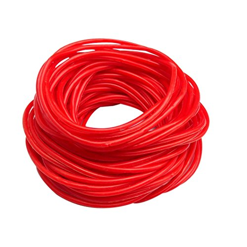 L'vow Mixed Gummy Silicone Wristbands Bracelets Bands Pack of 50 (Red)