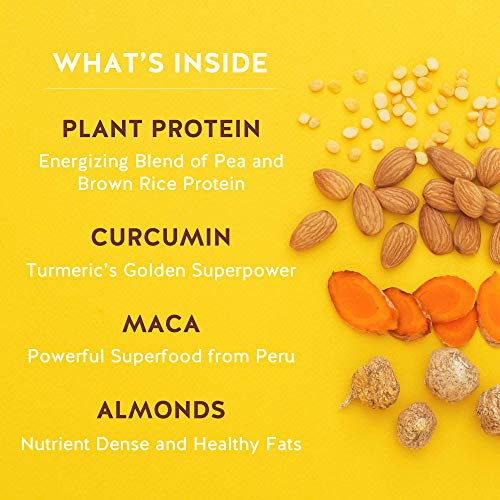 Pirq, Vegan Protein Shake, Turmeric Curcumin, Maca, Plant-Based Protein Drink, Gluten-Free, Dairy-Free, Soy-Free, Non-GMO, Vegetarian, Kosher, Keto, Low Carb, Low Calorie (Golden Vanilla, 12 Pack) 5